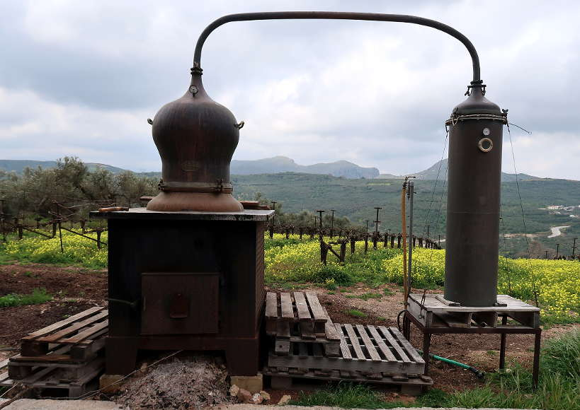 Raki distillation crete by AuthenticFoodQuest