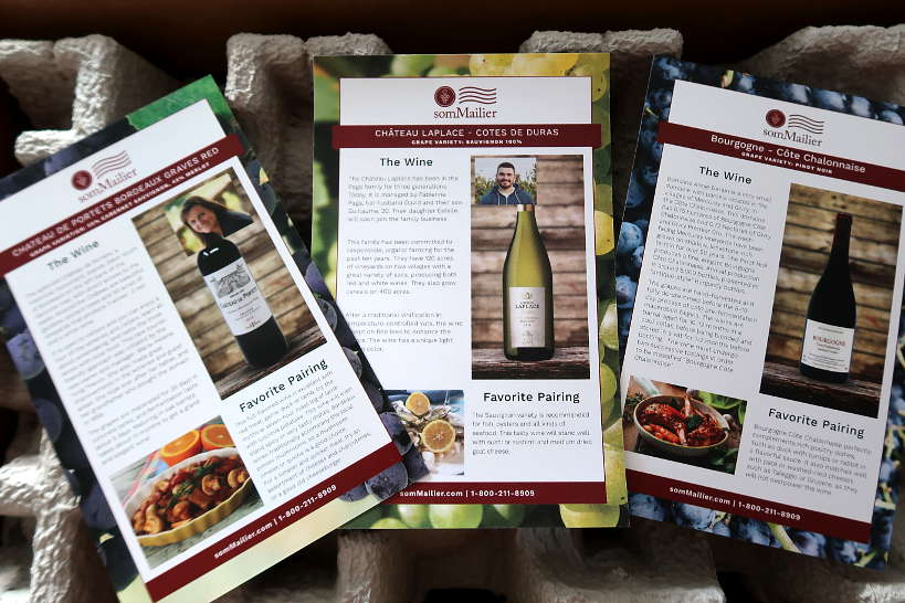 French Wines Information Cards from Sommailier Wine Club by AuthenticFoodQuest