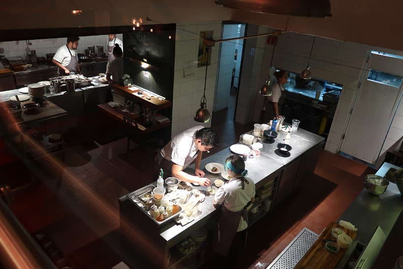 Kitchen at Alcade Restaurant One of The Best Guadalajara Restaurants by AuthenticFoodQuest