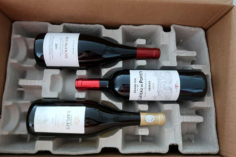 Sommailier Wine Box with three French Wines by AuthenticFoodQuest