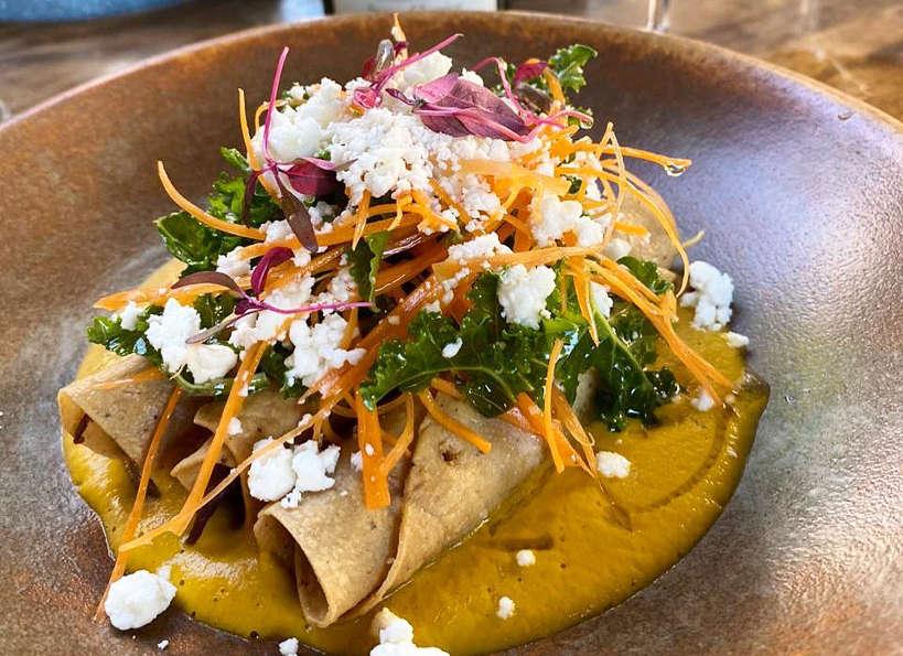 Tacos Dorados at Tikkun Restaurant by AuthenticFoodQuest