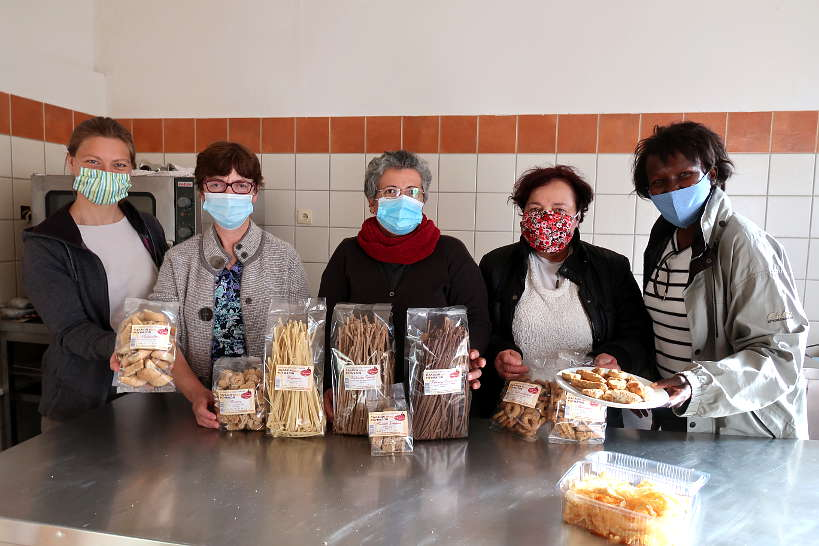 Claire and Rosemary at the Women's Cooperative in Palea Romata by AuthenticFoodQuest
