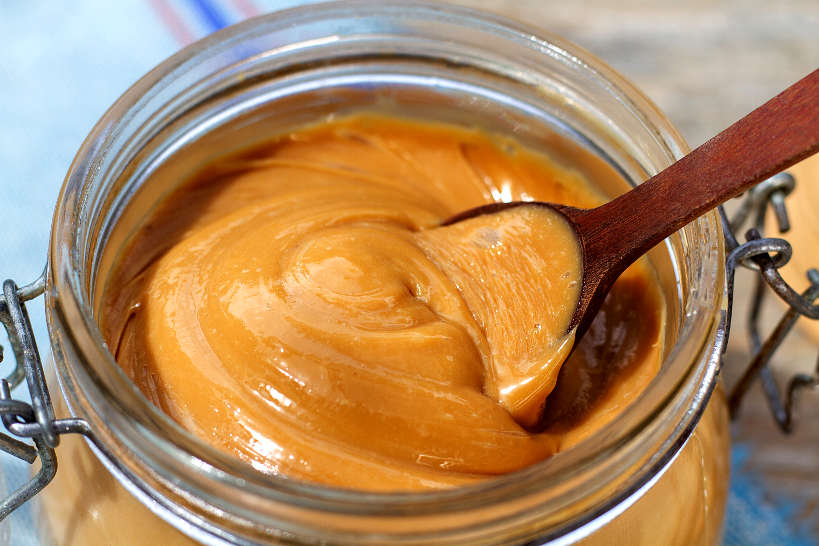 Closeup of Homemade Dulce de Leche by AuthenticFoodQuest