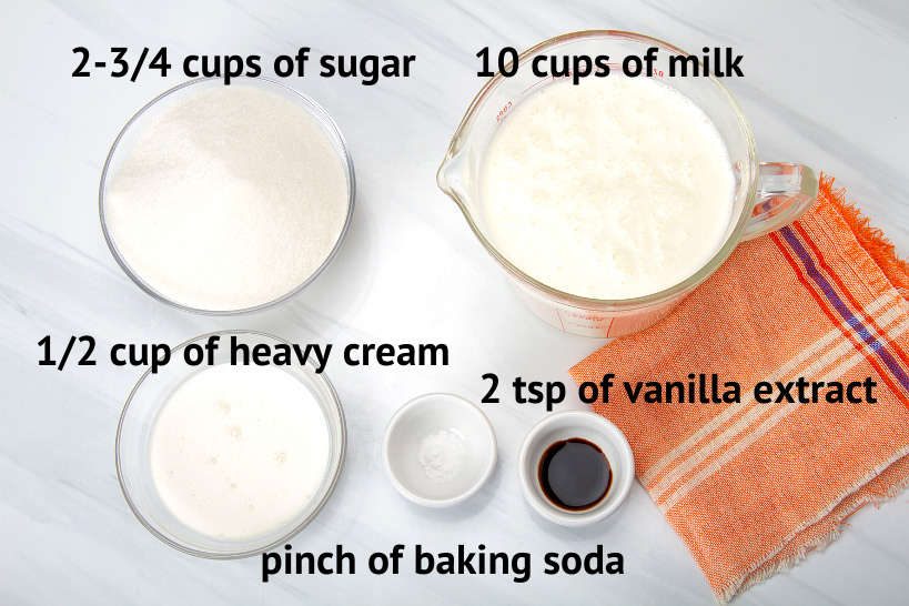 Ingredients for Argentina Dulce de Leche Recipe by AuthenticFoodQuest