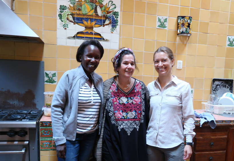 Rosemary and Claire with Susana Trilling by Authentic Food Quest