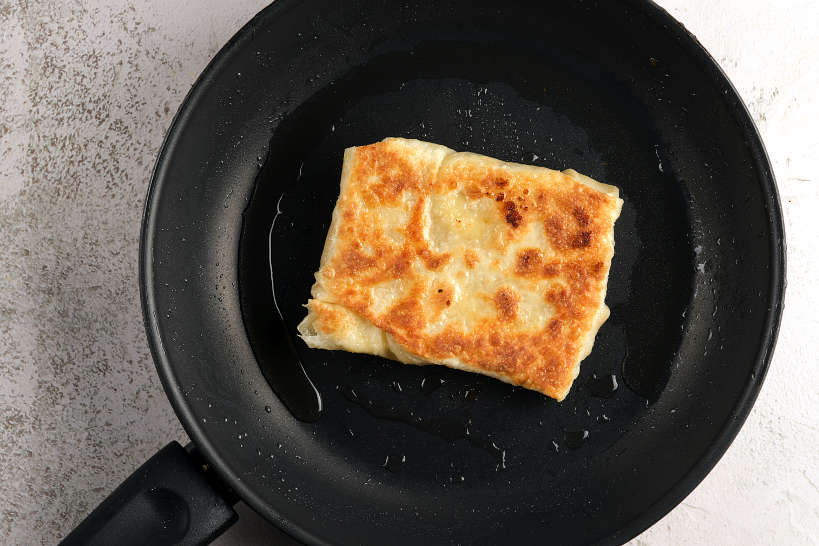 FinalizingCooking Thai Banana Pancake by Authentic Food Quest