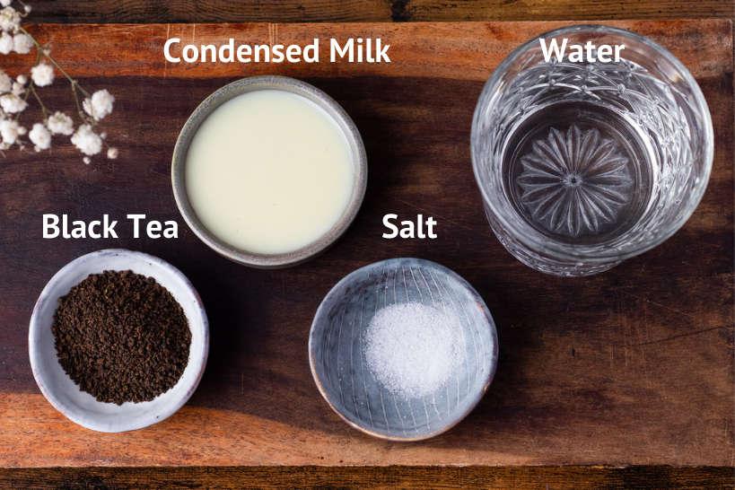 Ingredients Teh Tarik Recipe by Authentic Food Quest