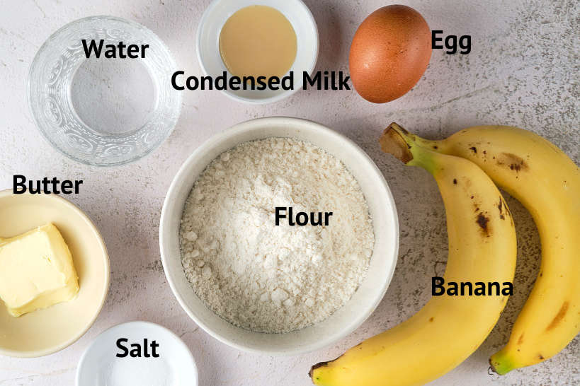 Ingredients for Thai Roti Recipe by Authentic Food Quest