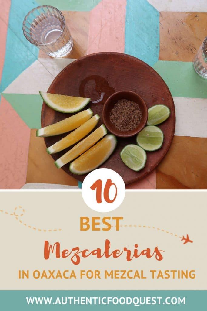 Pinterest Top Mezcalerias Oaxaca by Authentic Food Quest