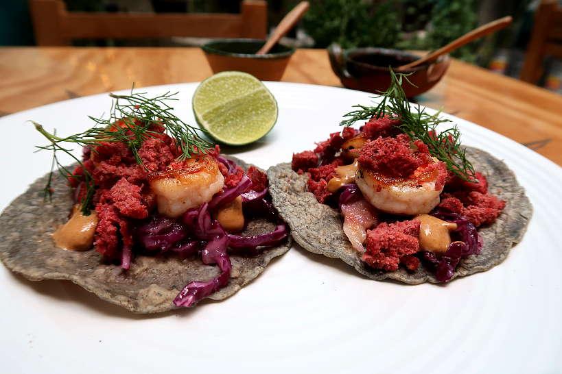 Shrimp Tacos El Tendajon by Authentic Food Quest