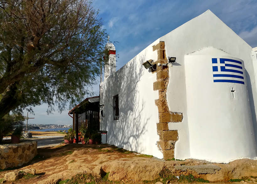 Greek Church by the water Chania by Authentic Food Quest