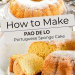 Pinterest Portuguese Sponge Cake by Authentic Food Quest
