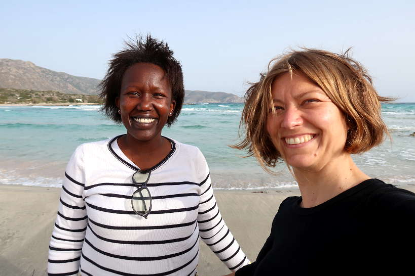 Rosemary and Claire at Elafossini Beach Chania by Authentic Food Quest