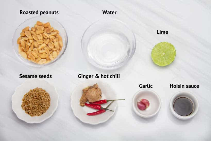 Ingredients Vietnamese Peanut Sauce Recipe by Authentic Food Quest